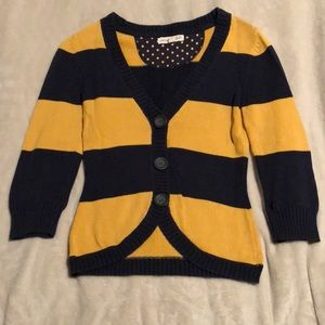 Aeropostale 3/4 sleeve striped cardigan